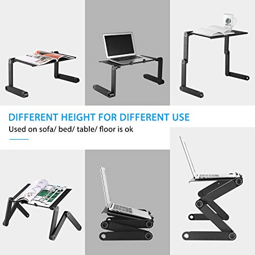 41vk7yEBk0L - Cozime Laptop Table,Foldable Computer Desk,Laptop Stand Portable Table with Mouse Board for Bed Tray,Reading Bracket