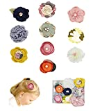 FANCY CLOUDS Girls Hair Bows Flowers Clips Barrettes,Lined Alligator,Hair Accessories for Baby Newborn Infant Toddler Kids