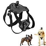 Walway Dog Harness Chest Strap Belt Mount for GoPro Hero 6/5/5 Session/ 4 Session/ 4/3+/ 3/2/1, SJCAM SJ4000 SJ5000 Action Camera, with J-Hook and Release Buckle