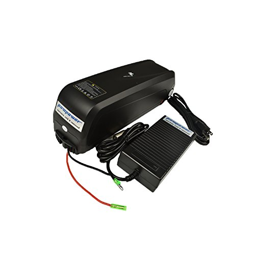 Pswpower 48V 13Ah Ebike Replacement Battery + 54.6V 2A Charger, Li-ion Battery for Electric Bike Scooters Bicycle Electric Tricycle, fit 500W/750W/1000W Motor (USA Warehouse)