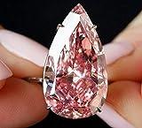Endicot Womens 925 Silvering Pear Cut Ring Eternity Waterdrop Pink Sapphire Jewelry   Model RNG - 6093   9
