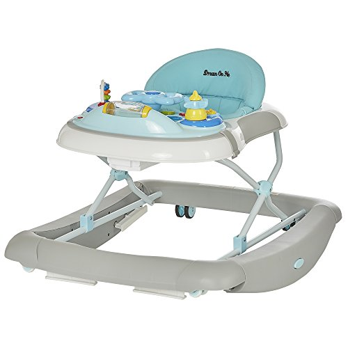 Dream On Me 2 in 1 Crossover Musical Walker and Rocker, Grey