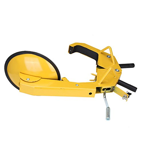 PanelTech Wheel Tire Parking Boot Lock Lawn Tractor Golf Cart ATV RV Trailer Lock Anti Theft