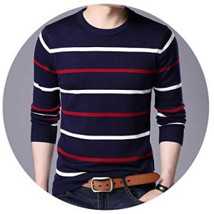 Men Sweaters Knitted Solid Simply Pullover Men Casual V Neck Sweater Pull Homme S-XXL,25701,M