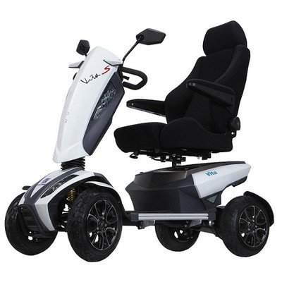S12S Vita Sport Luxury 4 Wheel Heavy Duty Electric Power Scooter with Suspension with LCD LED Sport Package Warranty: None, Color: Orange