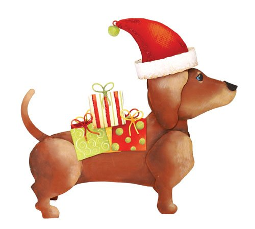 The Round Top Collection Christmas Dachshund (3 PCS) -Metal