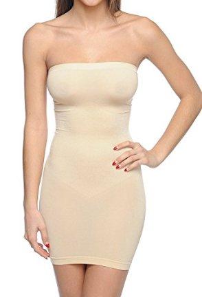 Body Beautiful Strapless Full Body Slip Shaper Nude Large/XLarge