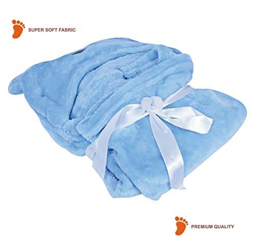 41wDIDfXTtL My New child Child Blanket Wrapper Bathtub Towel with Hood -Blue Pet