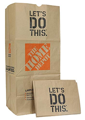 49022-10PK Heavy Duty Brown Paper Lawn and Refuse Bags for Home and Garden, 30 gal (10 Lawn Bags)