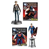 DC Chess Collector Figure #32 The Question White Pawn & #33 Justice League Superman White King