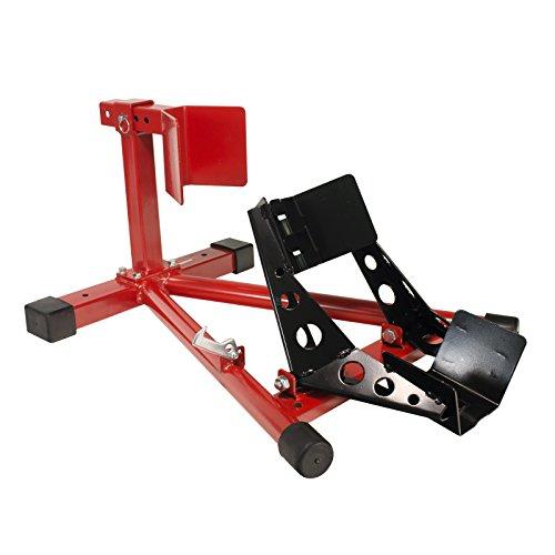 Dragway Tools Motorcycle Wheel Chock Locking & Adjusting Stand 16' - 21' Tire