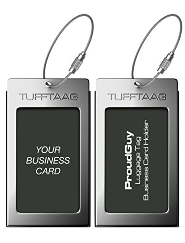 Luggage Tags Business Card Holder TUFFTAAG Travel ID Bag Tag in Many Color...