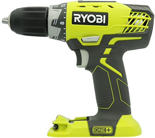 Ryobi P208 One+ 18V Lithium Ion Drill/Driver with 1/2 Inch Keyless Chuck (Batteries Not Included, Power Tool Only)