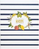 C.R. Gibson Mini Recipe Notebook, 5 Divider Pocket Pages, 25 Recipe Pages In Between Each Tab, Notebook measures 7.25' W x 9' H x 1' D - Lemon Drop
