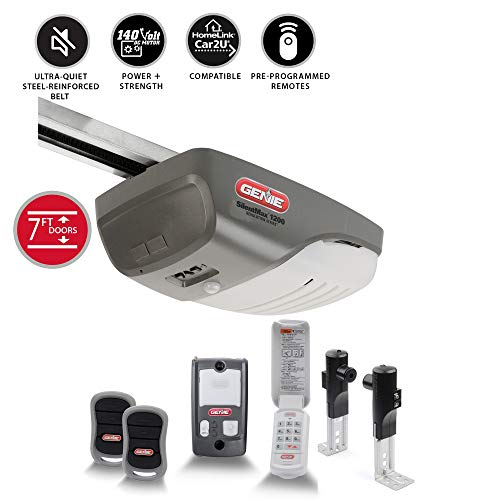 Genie 4042-TKH SilentMax 1200 Ultra-Quiet Belt Drive System-Includes 2 Garage Door Opener, 3/4 + HPC 140V, Gray