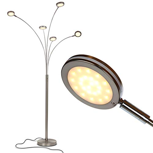 Brightech-Orion-5-Super-Bright-Modern-LED-Arc-Lamp-5-Adjustable-Arms-Light-Heads-Arch-Over-the-Couch-Standing-Tree-Lamp-for-Living-Rooms-Hanging-Lighting-Satin-Nickel-Silver