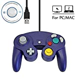 Mekela Classic Wired USB PC Controller Joystick Gamepad resembles Gamecube Game Cube for PC Windows MAC (USB Purple2)