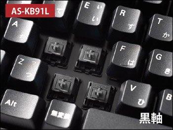 Archiss Cherry黒軸 日本語JIS配列テンキーレスメカニカルキーボード USB&PS/2両対応 AS-KB91L