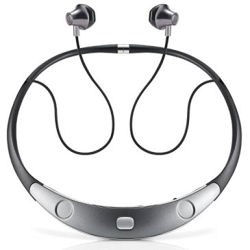 Bluetooth Headset Call Vibrate Alert HiFi Wireless Neckband Headphones Stereo Noise Reduction Earbuds w/ Mic by Audioxa