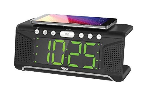 NAXA Electronics NRC-175 Digital Alarm Clock Tuning AM/FM Radio and CD Player - Black Lacquer