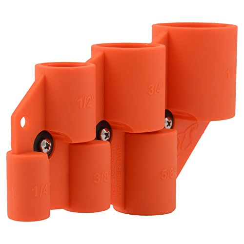 SharkBite Deburring Pipe and Depth Gauge Tool, Copper, CPVC, Pipe, 1/4 inch, 3/8 inch, 1/2 inch, 5/8 inch, 3/4 inch, 1 inch, U702A