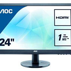 "41wbwr7Pi3L - AOC E2460SH 24"" LED FHD (1920x1080) 1ms monitor with Built-in speakers. (VGA, DVI, HDMI) - Black"