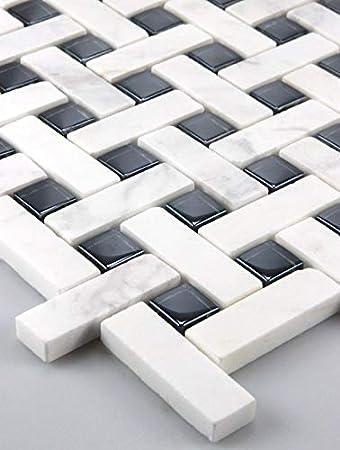 11 Matten 1m² Glasmosaik Mosaik Mosaikfliesen Marmor Glas