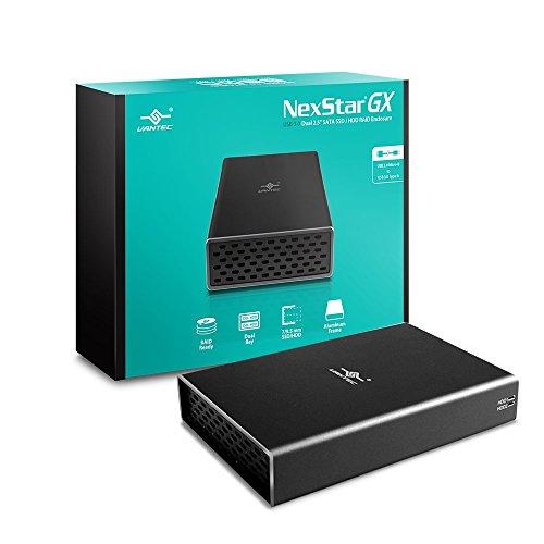 Vantec Nexstar GX USB 3.0 Dual 2.5' SATA SSD/HDD RAID Enclosure, Black (NST-272S3-BK)