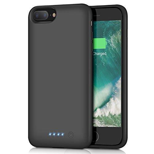 iPhone 8 Plus/7 Plus Battery Case 8500mAh, HETP Rechargeable Extended Battery Pack for iPhone 7Plus 8Plus Charging Case Apple Portable Power Bank (5.5 inch) - Black