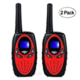 MOYAGOA Kids Walkie Talkie Two Way Radios 3-5 Miles  22Channel Wide Range Outdoor Walkie Talky Toy Cellphone for Adults and Kids Best Gift for Birthday/ Children Day /Christmas Day (2 Pack)