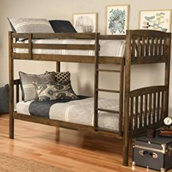 Kodiak Furniture Claire Bunk Bed, Twin, Rustic Walnut Finish