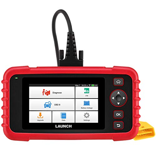 LAUNCH Scan Tool CRP123X OBD2 Scanner Code Reader Car Diagnostic Tool Based on 7.0 Android System AutoVIN Service Wi-Fi Free Updates 5.0'' Color LCD Touchscreen for Engine Transmission ABS SRS