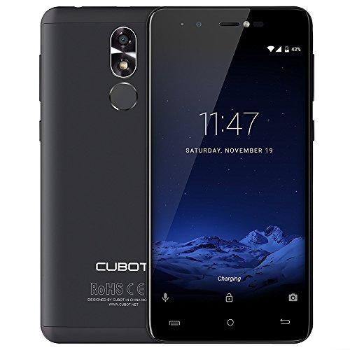 "CUBOT R9 MTK6580A GSM Smartphone Android 7.0 5.0"" IPS 1280x720 HD Screen Quad Core 2GB+16GB 13.0MP Camera Fingerprint Cellphone (Black)"