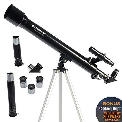 Celestron - PowerSeeker 50AZ Telescope - Manual Alt-Azimuth Telescope for Beginners - Compact and Portable - BONUS Astronomy Software Package - 50mm Aperture