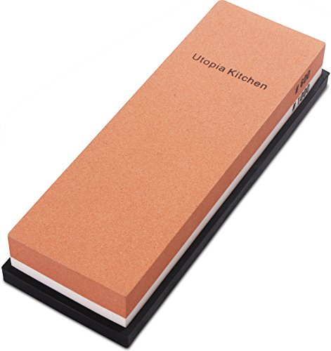 Utopia Kitchen Double-Sided Knife Sharpening Stone - Multi-Colored -...