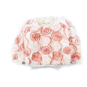 BCVHGD Baby Girls Flower Sweaters Winter Thickening Warm Pullovers Plus Velvet Kids Tops Children's Clothing