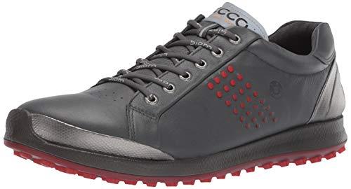 ECCO Men's Biom Hybrid 2 Hydromax Golf Shoe, Dark Shadow Yak Leather, 46 M EU (12-12.5 US)