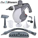 PurSteam World's Best Steamers Chemical-Free Cleaning Pressurized Cleaner with 9-Piece Accessory Set Purpose and Multi-Surface All Natural, Anthracite