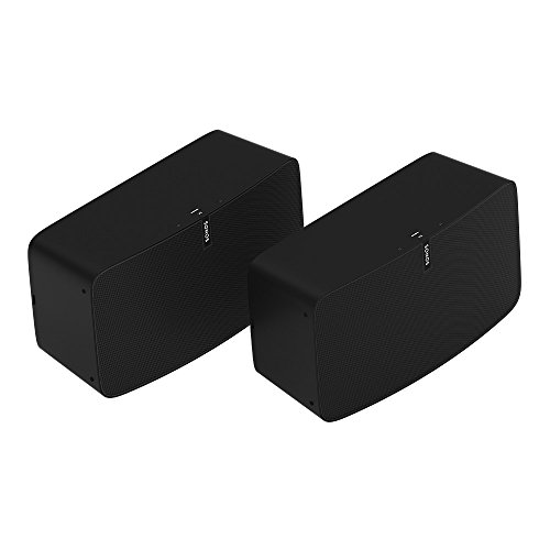 Sonos Play:5 Two Room Premium Set - Ultimate Wireless Smart Speaker for Streaming Music. Works with Alexa. (Black)