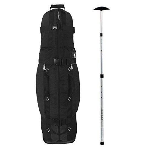 Club Glove Last Bag Collegiate Golf Travel Cover w/ Free Stiff Arm (Black)