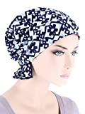 Abbey Cap Womens Chemo Hat Beanie Scarf Turban Headwear for Cancer Celtic Blue