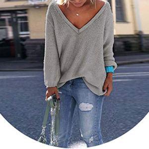 Autumn Winter Sweaters Women Warm Pullover Women Knitted Sweater V-Neck Loose Sweater Knitted