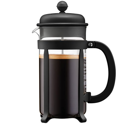 Bodum Chambord 3 Taza French Press Cafetera eléctrica, 12 oz, cromado, Black/34 oz., 1 l