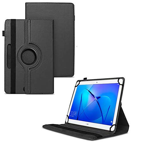 TGK 360 Degree Rotating Universal 3 Camera Hole Leather Stand Case Cover for Honor MediaPad T3 10 9.6 inch Tablet-Black 8