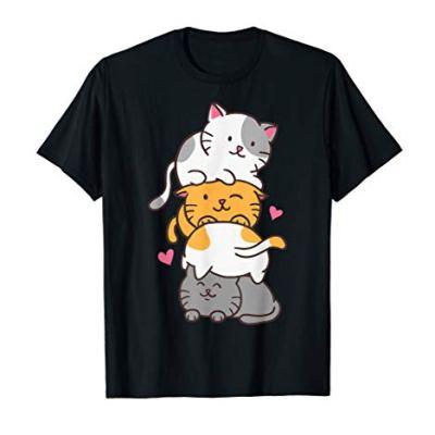 Cat Cats Cute Kitty Pile Anime Kawaii Neko Gift T-Shirt