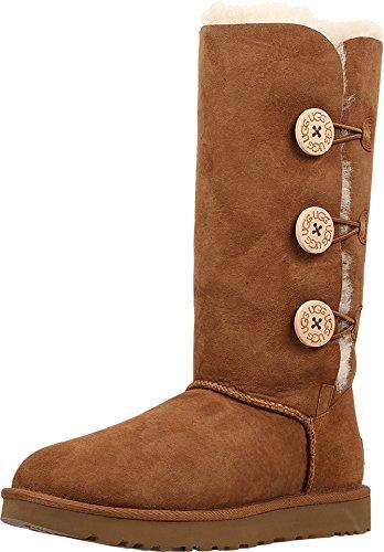 UGG Women's Bailey Button Triplet II Winter Boot, Chestnut, 9 B US