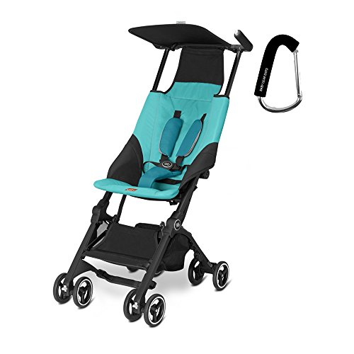 2017 GB Pockit Stroller - FREE BABY GEAR XPO STROLLER HOOK WITH PURCHASE (Capri Blue)