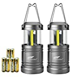 HAUSBELL Portable Lanterns with Magnetic Base, COB LED Camping Lantern Collapsible Flashlights - Survival Kit for Emergency, Hurricane, Storm, Outage