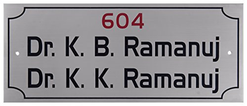 Shreyas Signages Personalised Stainless Steel Drkb