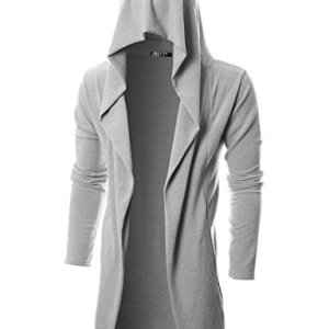 GIVON Mens Long Sleeve Draped Lightweight Open Front Longline Hooded Cardigan 28 Fashion Online Shop gifts for her gifts for him womens full figure